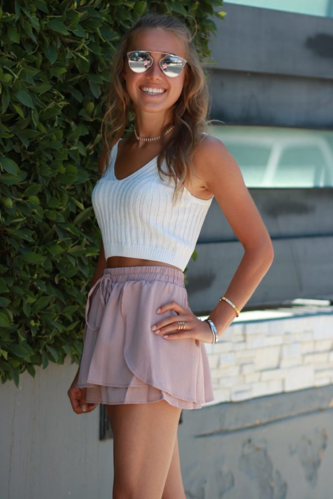 ROMWE High Waisted Skort and Crop Top
