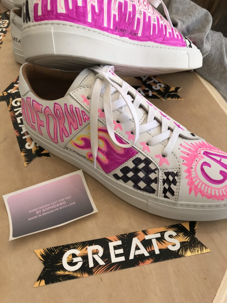Customized Greats Sneakers With Sophdawg Snapped By Gracie Flash  Olivia Img 7250